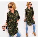 Großhandel Fashion & Accessoires: BI756 Long Shirt Oversize, Tunika, Moro Muster