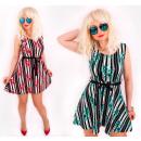D1440 Romantic Summer Dress, Elegant Flared Line
