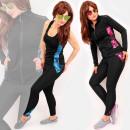 wholesale Sports & Leisure: 4483 Sporty Women Set, Training Suit, 3 Parts