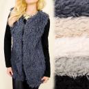 wholesale Coats & Jackets: C17245 Fashionable Soft, Furry Waistcoat, Jacket