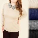 C17370 Gran  suéter, tallas  grandes, estampado ...