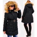 wholesale Fashion & Apparel: 4417 Women's Winter Jacket with Fur, Black