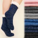 wholesale Stockings & Socks: 4151 Winter Socks,  ABS Slippers, Fur, Silver
