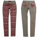Großhandel Hosen: Damen Jeans Hosen, XS - XL, Aztec Print B16866