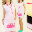 3952 DRESS with  slider, Bonjour NEW YORK MIX