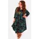hurtownia Fashion & Moda: EM50 Obszerna Sukienka Plus Size to 56, Kwiaty ZIE