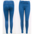 wholesale Jeanswear: B16824 Slimming Jeans, Women Treggins, Blue