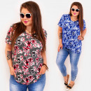 C11523 Cheerful Plus Size Blouse, Charming Flowers