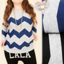 Großhandel Hemden & Blusen: C11376 Bequeme Bluse, Tunika, Zickzackmuster, Perl
