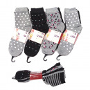 Women's socks, coton , Mix of Patterns 35-42,
