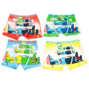 wholesale Models & Vehicles: Bamboo Boys Boxer Shorts, Planes 4-12, 5578