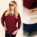 G244 Pull oversize  ample, tunique, manches longues