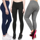 wholesale Trousers: Bamboo Leggings, Sporty Line, 2XL-5XL, 5464