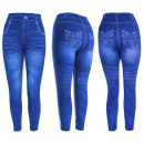 wholesale Trousers: Women Jeans Leggings, With Print, UNI, 5891