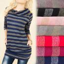 Großhandel Hemden & Blusen: BI618 Tunika, Bluse, Strickjacke zum Abnehmen