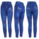 wholesale Trousers: Women Jeans Leggings, Rose Print, UNI, 5892