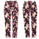 wholesale Fashion & Apparel: Women Jeans pants, 25-30, Rose Pattern, B16873