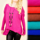 Cashmere Tunic with Bows, S-XL Oversize 4879