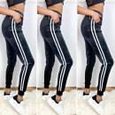 nagyker Ruha és kiegészítők: Velúr női nadrág, Sporty S-XL, fekete, C17735
