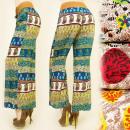 ingrosso Pantaloni: Pantaloni in  cotone A1935,  Cintura Mega, Boho ...