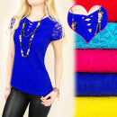 BI337 kanten  blouse kant, SEXY NECKLINE