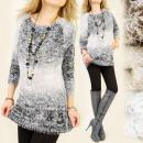 Großhandel Fashion & Accessoires: G131 Zarte  Pullover, Plüsch, Ombre, Plait