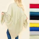 C17285 Large Shawl, Plaid, Wool Knit, Colors