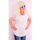 B18265 Cotton Shirt, Lace Sleeves, Dots