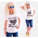 B18270 Cotton Shirt, Summer Top, NYC Heart