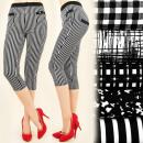 Großhandel Fashion & Accessoires: FL461 KOMFORT  HOSE, SHORTS 3/4 , NETTE STREIFEN