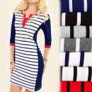 BI484 Feminine  Dress, Tunic, Golden Button, Belts