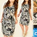 Großhandel Kleider: FL523 Airy,  dekoratives Kleid, plus Größe
