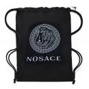 ingrosso Scuola: Zaino 4812 grande, borsa in tela, Nosace, nero
