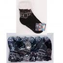 Dikke heren sokken met bont, ABS, 4938
