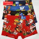 4825 pamut boxer férfi nadrág, L-3XL, karácsony