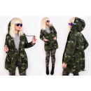 wholesale Coats & Jackets: BI787 Women's Oversize Hood Jacket, Military M