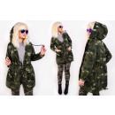 BI787 Women's Oversize Hood Jacket, Military M