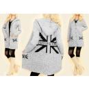 ingrosso Cappotti e giacche: C17273 Cardigan  lungo, Caldo  cappotto, Bandiera ...