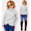 Großhandel Pullover & Sweatshirts: PL36 Warmer ,Rollkragenpullover Geflochtene Zöpfe,