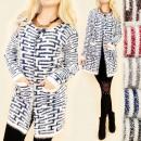 C17251 Cardigan  d'automne, pull, tricot velu
