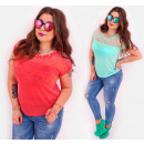 BB168 Loose Top,  Women Blouse, Lace And Jets