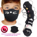 Kid's Protective Mask 6-13, 2 layers, ...