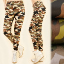 hurtownia Fashion & Moda: C17424 Sportowe  Spodnie, Moro, Bamboo & Fleece