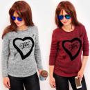 Großhandel Hemden & Blusen: 4486 Romantische Bluse mit Herz, Print My Love