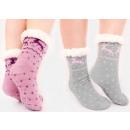 4363 Pelz Warme Socken, ABS Hausschuhe, Skandinavi