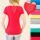 Großhandel Shirts & Tops: D2604 subtile  Bluse, Top, in der Spitze ZURÜCK