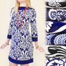 G145 POSH DRESS, arabesque PATTERNS, RETRO