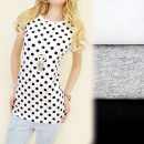 C11186 FASHION  WOMEN BLOUSE, TOP PRINT DOTS