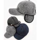 wholesale Headgear: C1951 Mens Baseball Cap, Hat with Earmuffs