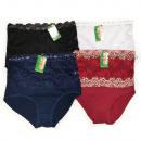 wholesale Fashion & Apparel: Women's Panties, Bamboo, Lace 2XL - 3XL, 5821
